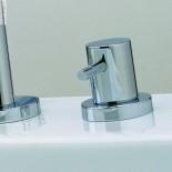 Treemme | Waschtischmischer X-Change | chrom | runder Querschnitt | Einzelrosetten | Griffe: XL