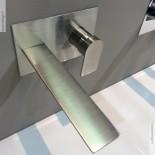 Treemme | Unterputz-Waschtischmischer Ran | große Abschlussplatte | Nickel gebürstet