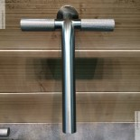 Unterputz-Waschtischmischer 22mm | Zweigriff-Bedienung | Edelstahl gebürstet