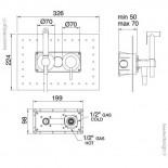 Unterputz Handbrauseset am WC | Serie Up | 5777