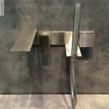 Einhebel-Wannenfüllarmatur Unterputz 5mm | Edelstahl gebürstet
