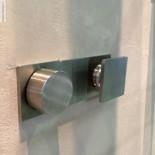 Treemme Unterputzmischer | 5mm | 2 Wege mit Umschalter | quadratischer Betätigungsknauf | Präsentation Cersaie