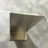 Treemme Regenbrause 5mm | Edelstahl gebürstet | Präsentation Cersaie