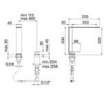Treemme 2-Loch-Küchenspülenmischer 5mm mit separatem Schwenkauslauf | Edelstahl gebürstet