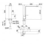 Treemme Einhebel-Küchenspülenmischer 5mm | Edelstahl gebürstet