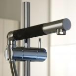 Treemme Küchenarmatur 5500 | chrom | schwenkbare Handbrause schwarz