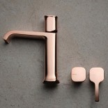 Ritmonio | Waschtischarmatur Taormina | rose gold (F32) | Griffoptionen