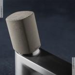 Einhebelmischer Haptic | nickel gebürstet | Griff Beton
