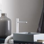 Einhebelmischer Haptic hoch | weiß matt