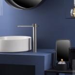 Ritmonio | Waschtischarmatur DOT316  hohe Bauform | Edelstahl gebürstet | Auslauflänge 184mm