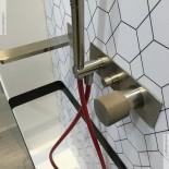 Unterputz-Wannenfüllmischer Haptic | Nickel gebürstet | Griff aus Beton