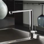 Küchenmischbatterie Diametrotrentacinque | chrom | 360° schwenkbar | flacher Auslauf