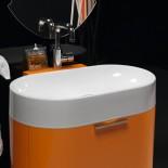 Regia Waschtisch Bilbao | Waschbecken: Keramik weiß (92) | Schubladenelement:orange glänzend lackiert (21)