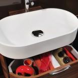 Regia Waschtisch Bilbao | Waschbecken: Tecnoglass weiß (51) | Unterschrank: Palisander (02)