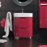 Regia Waschtisch Bilbao | Waschbecken: Tecnoglass weiß (51) | Unterschrank: fuchsia glänzend lackiert (36)