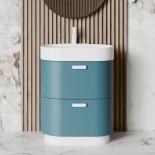 Regia Waschtisch Bilbao | Waschbecken: mineral matt  weiß | Unterschrank: RAL matt