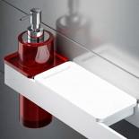 Regia | Accessoirsystem Ruben | mit Seifenschale und Seifenspender in Vetroghiaccio rot