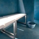 Sitzbank | Kunstharz weiß