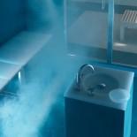 Sitzbankmodul und Wasserquelle | Kunstharz weiß