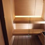 Komplettsauna Logica mit Duschzone | Duschzone rechts