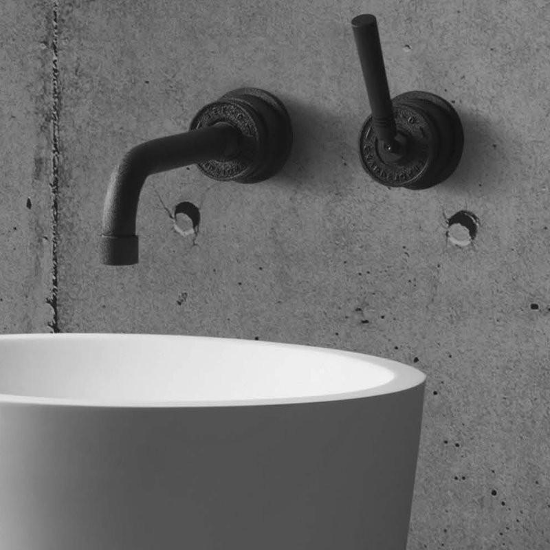 jee o unterputz waschtischarmatur soho hammerschlagbeschichtung schwarz matt. Black Bedroom Furniture Sets. Home Design Ideas