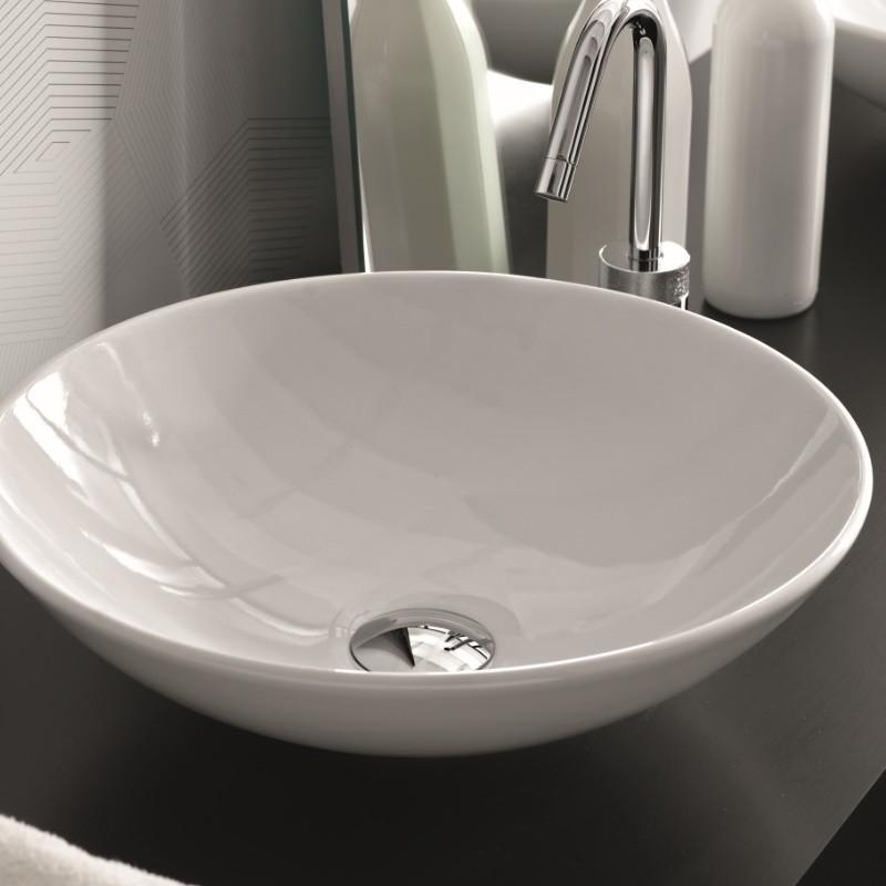 Waschbecken rund  Hidra Ceramica Aufsatzwaschbecken Polis | rund | 41cm