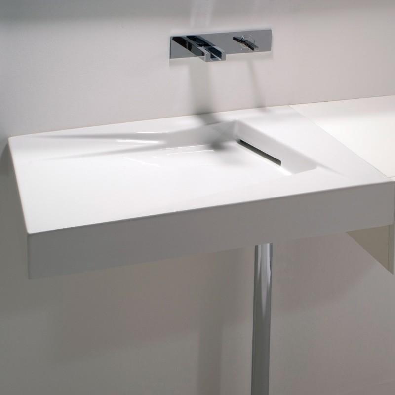 gsg ceramic design waschtisch oz mit ablaufschlitz ohne hahnloch 65cm. Black Bedroom Furniture Sets. Home Design Ideas