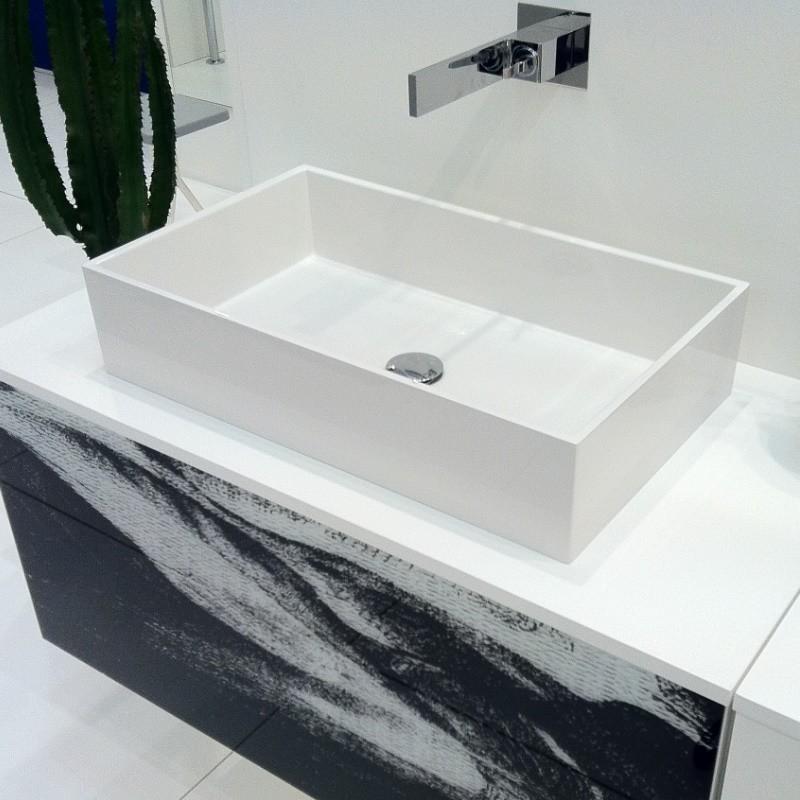 Gsg ceramic design waschschale box 60 cm aus crystaltech design massimiliano abati ohne - Aufsatzwaschbecken ohne hahnloch ...