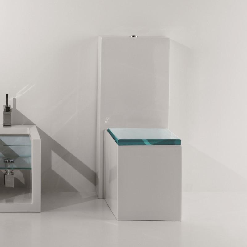 Gsg Ceramic Design Stand Wc Mit Spulkasten Serie Glass 52 Cm