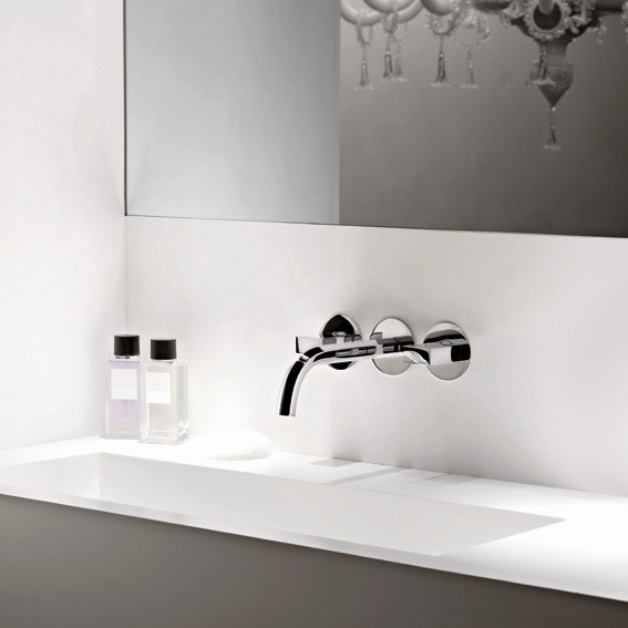 unterputz waschtisch armatur venezia wandauslauf fantini design thun rodriguez. Black Bedroom Furniture Sets. Home Design Ideas