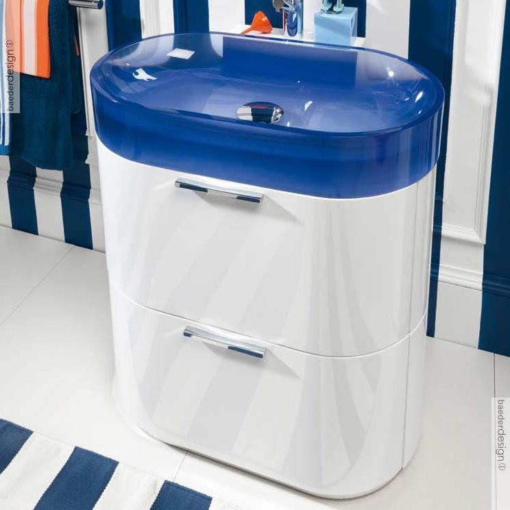 Waschbecken Blau regia | bodenstehender waschtisch bilbao | mit unterschrank und zwei