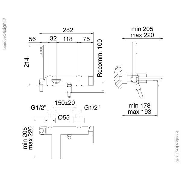 Treemme | 2200 | Technische Zeichnung