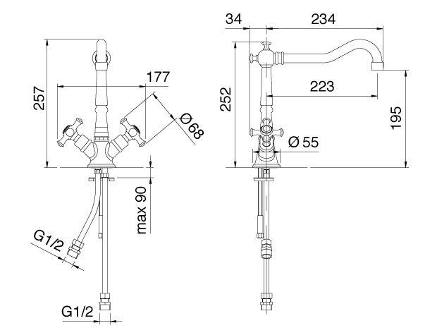 Treemme | 4438 | Technische zeichnung