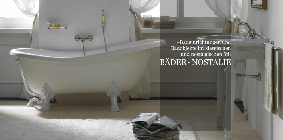 bäder und badobjekte im klassisch-nostalgischen stil, Badezimmer